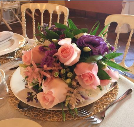 Decoraci n mesas banquete hacienda celebraci n boda en for Centros de mesa para restaurantes