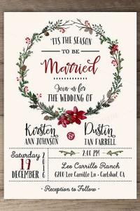 invitacion boda navidad