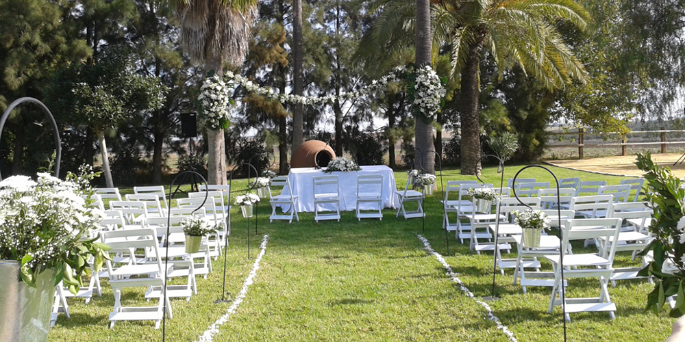 camino altar hacienda bodas sevilla