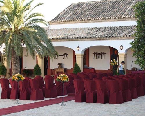 pasillo hacienda bodas sevilla