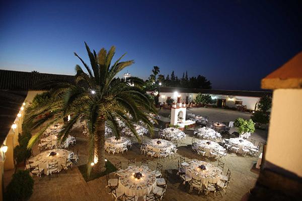 patio nocturna hacienda bodas sevilla