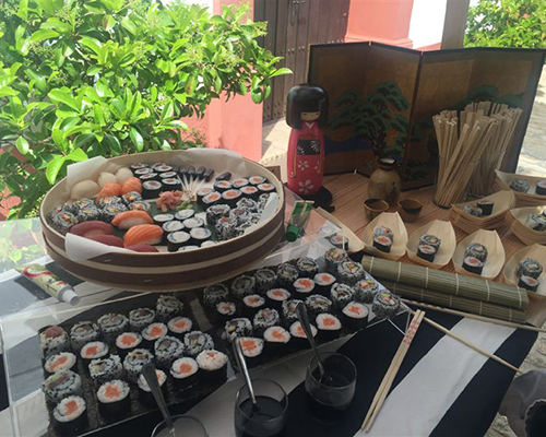 mesa sushi hacienda bodas sevilla