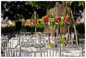 centro mesa flores